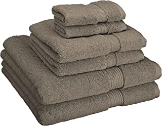 Superior 900 GSM Luxury Bathroom 6-Piece Towel Set, Made Long-Staple Combed Cotton, 2 Hotel & Spa Quality Washcloths, 2 Hand Towels, and 2 Bath Towels - Charcoal