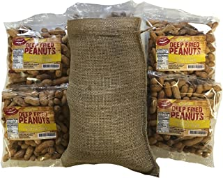 Garlic Flavored Deep Fried Peanuts 4 Pack Gift Bag with Edible Shells!