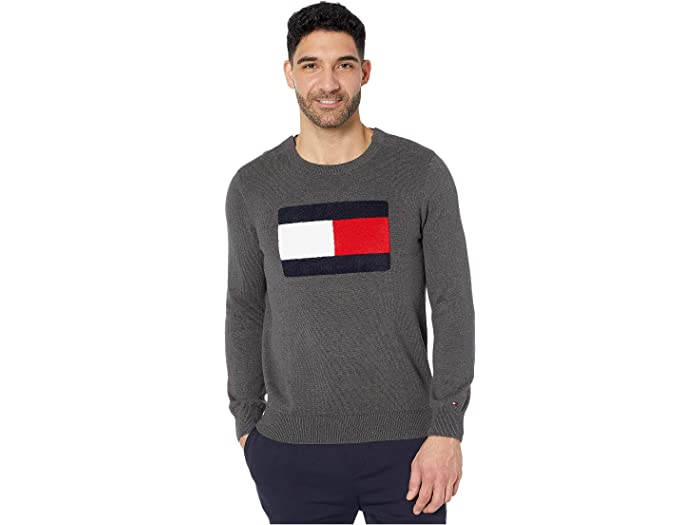Tommy Hilfiger Mens Adaptive Crew Sweatshirt with Velcro Shoulder Closure Sweatshirt