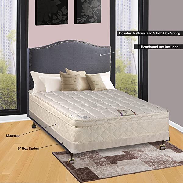 Continental Sleep 10 Pillowtop Fully Assembled Othopedic Twin XL Mattress 4 Box Spring Deluxe Collection