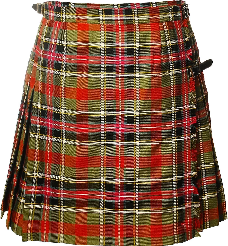 ILuv Ladies Deluxe Mini Skirt Kilt Bruce of Kinnaird Tartan UK 10