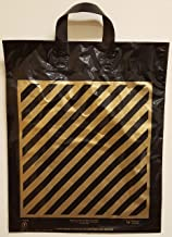 100pcsExtra-Large Size:20x20x5 Die-Cut Black with Gold Stripes Bags Plastic Shopping Bags 46.9 Cents per Bag. 46.99 per 100