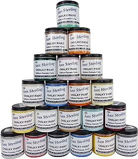 Ann Sterling Kreidefarbe Shabby Chic Farbe: 250ml. Lack Chalky Paint Ozean Blau