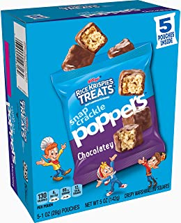Rice Krispies Treats Snap Crackle Poppers Chocolate Bites, 25ct(Pack of 5, 5 oz Boxes)