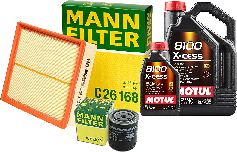 Newparts 6L 8100 X-Cess 5 ☆ popular service 5W40 Filter Kit Oil Air Motor Change B5