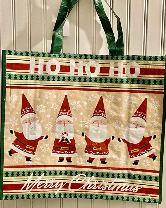 18x18  inch Holiday Tote Bag for Woman Christmas Tote Bag Boxer Free US Shipping m382