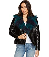 MINKPINK - Midknight Fur Lined Biker Jacket