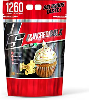 ProSupps IncrediBULK – Dual-Source Whey Protein Blend – Super Weight Gainer Formula, Vanilla Cake – For Hard Gainers – 123...