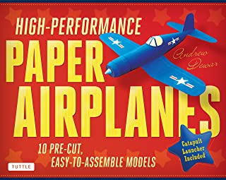 High-Performance Paper Airplanes Kit: 10 Pre-cut, Easy-to-Assemble Models: Kit with Pop-Out Cards, Paper Airplanes Book, & Catapult Launcher: Great for Kids and Parents!