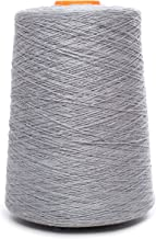 Linen Yarn Cone - 100% Flax Linen - 1 LBS - Bluish Gray - 3 PLY - Sewing Weaving Crochet Embroidering - 3.000 Yards