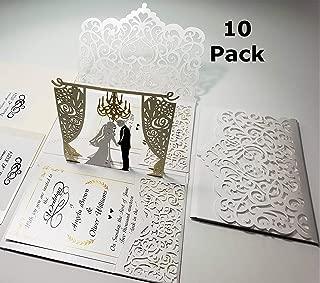 white pocketfold invitations