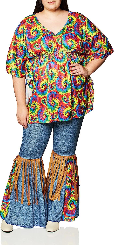 70s Costumes: Disco Costumes, Hippie Outfits Forum Novelties Womens Plus-Size Hippie Chick Plus Size Costume  AT vintagedancer.com