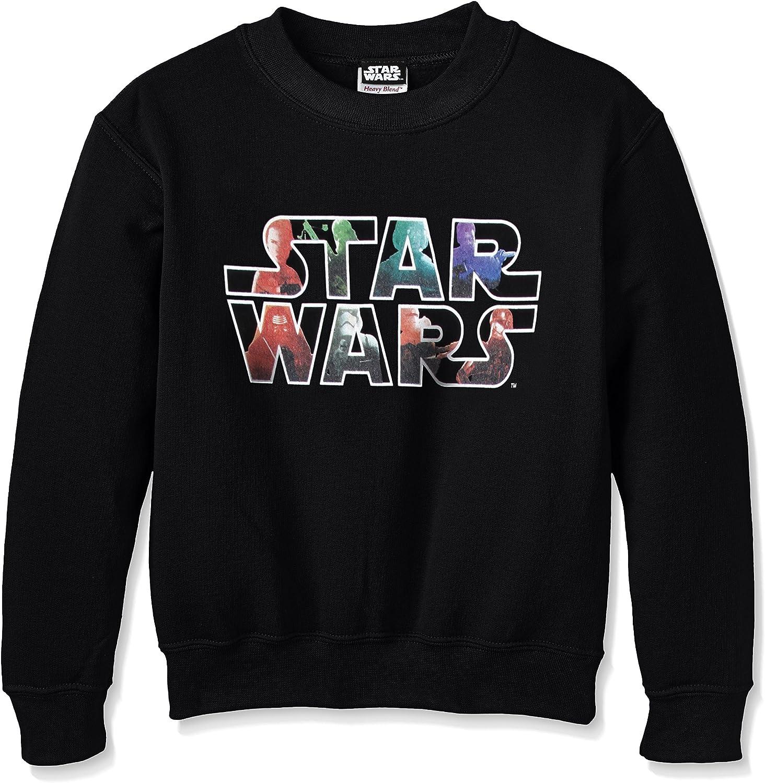 Star Wars VII The Force Awekens Heroes And Villains Logo Felpa Bambini e Ragazzi