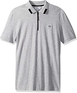 Lacoste Men's S/S Pique PIMA Ultra Leger Polo Slim FIT Shirt, Silver Chine, 4XL
