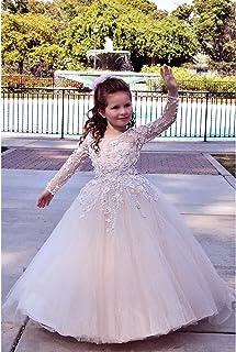 b68513c325c TriumphDress Big Girls Pink 3D Lace Tulle Train Riana Flower Girl Dress 6 7