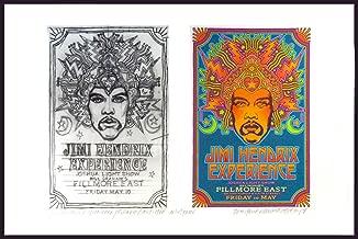 Jimi Hendrix '68 Fillmore East Early Poster Idea & Sketch Signed David Byrd