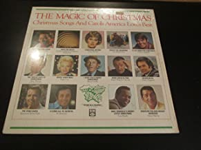 The Magic of Christmas Christmas Songs and Carols America Love Best (Nat King Cole, Anne Murray, Peggy Lee, Bing Crosby, Merle Haggard, Dean Martin, Low Rawls and Others) Record Vinyl Album LP