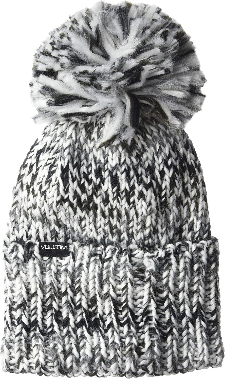 Volcom Women's Chevron Chunky Silk Acrylic Yarn Snow Beanie