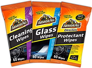Armor All Car Interior Cleaner Wipes Kit for Dirt & Dust - Cleaning for Cars & Truck & Motorcycle, 19271