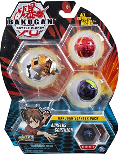 lowest Bakugan outlet sale Starter Pack 3-Pack, Aurelus Gorthion, Collectible Action Figures, for Ages 6 and discount up online sale