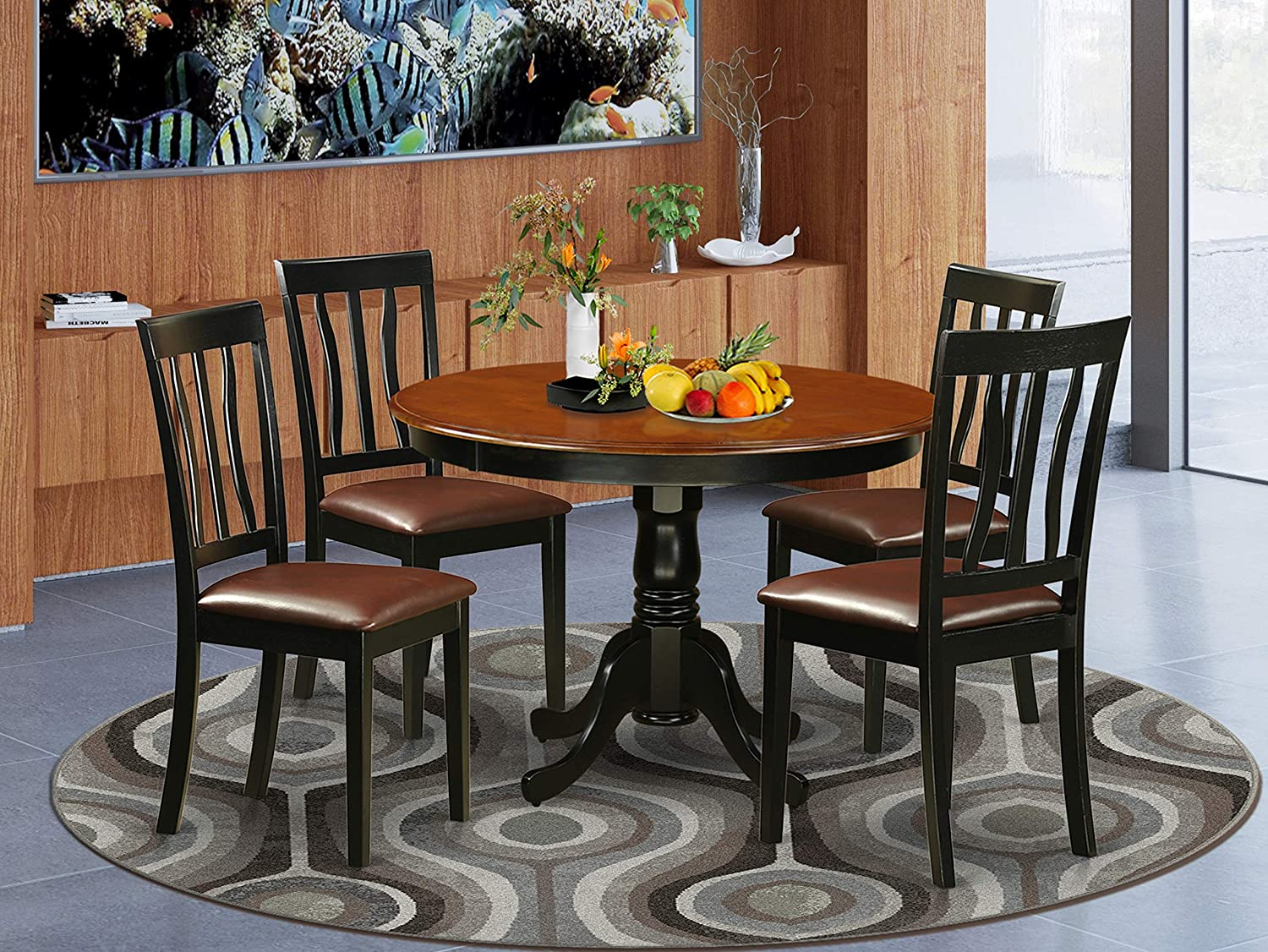 Buy East West Furniture 9 Piece Kitchen Table Set Included a ...