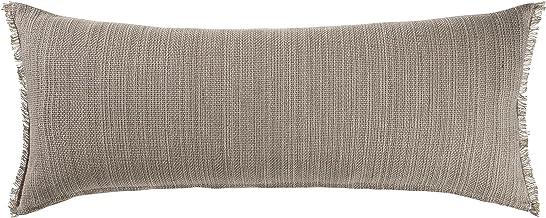 "LR Home Neutral Tan Lumbar Throw Pillow, 14"" x 36"""