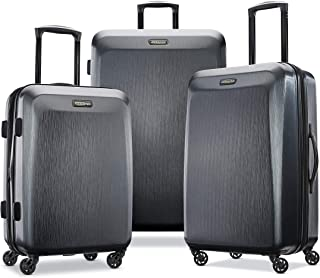 American Tourister Moonlight Hardside Expandable Luggage with Spinner Wheels, Anthracite, 3-Piece Set (21/24/28)