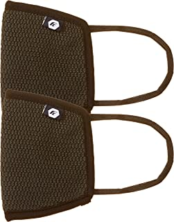 Fort Collins Unisex Cotton Face Mask (Pack of 2) (111_D.Grey_One Size)