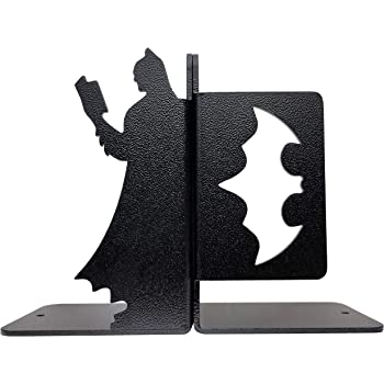 HeavenlyKraft Superhero Book Reading Metal Bookend by HeavenlyKraft Heavyweight Metal Bookend Ideal for Book Keeping Decorative Metal Bookend Metal Book Stopper Office Bookend (Weight 1.2 Kg)