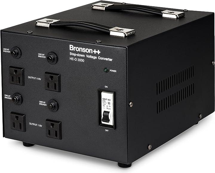 Convertitore di tensione 3000 watt bronson++ he-d 3000-110/120 volt usa HE-D-3000