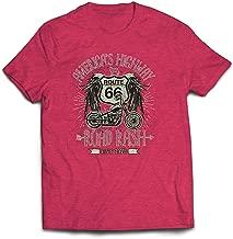 lepni.me Camisetas Hombre Ruta 66, autopista de los Estados Unidos - Road Rash,