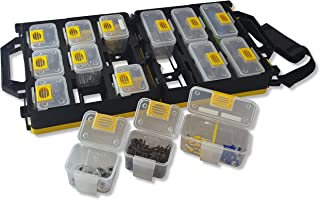 WorkVanEquipment Mobile Hardware Case Tackle Box with Removable Compartment Organizer and Shoulder Strap - US Patented