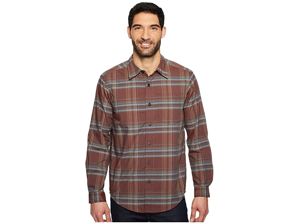 ExOfficio Kensington Plaid Long Sleeve Shirt (Dark Brick) Men