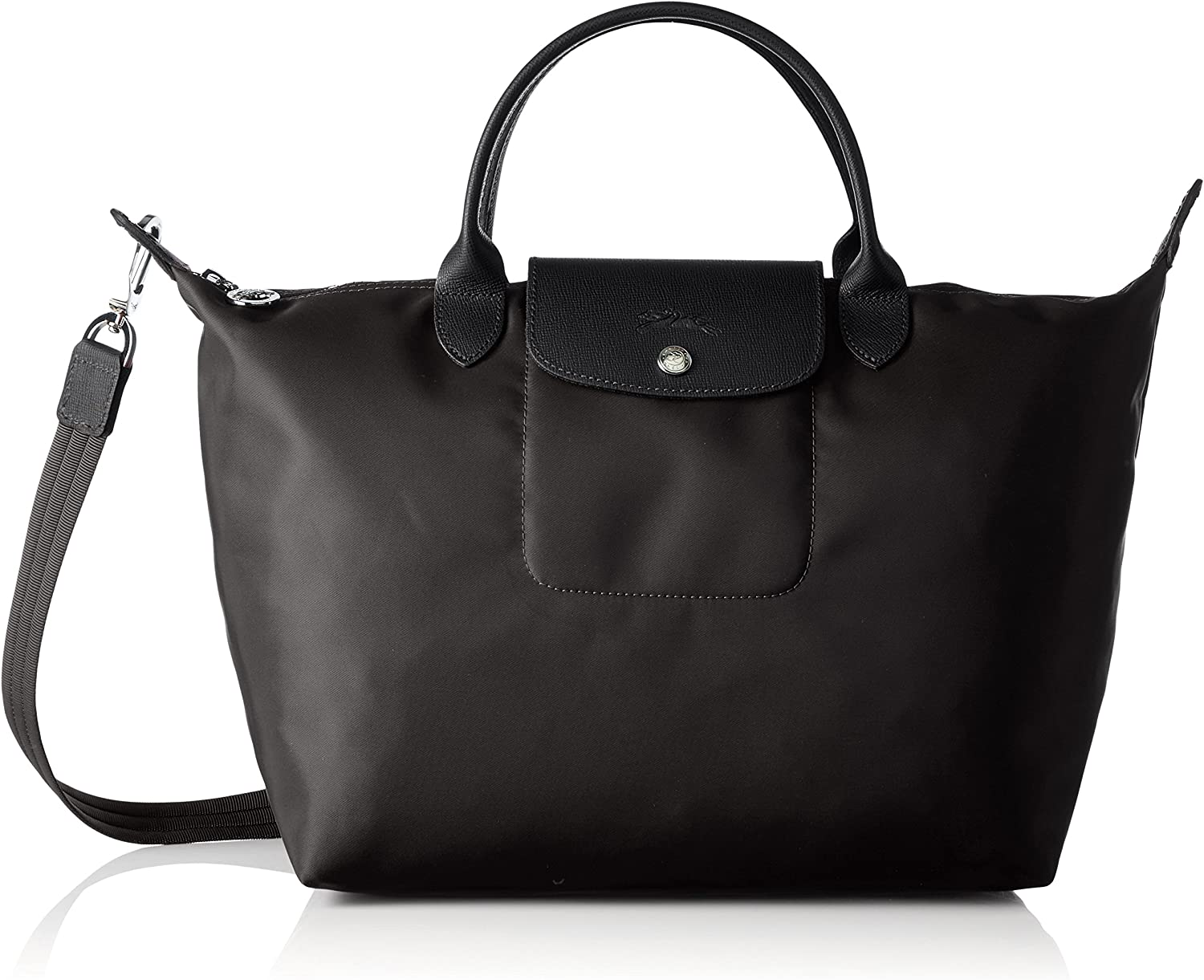 Longchamp Le Finally popular brand Pliage Neo Top-Handle Black Spring new work one after another Medium Size One Bag