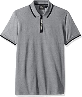 A|X Armani Exchange Men's Short-Sleeve Polo with Logo Collar Tape