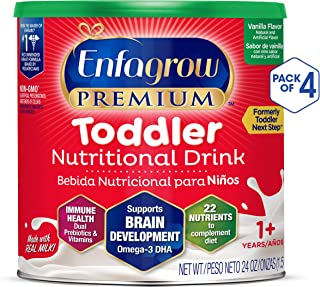 Enfagrow Toddler Next Step, Vanilla Flavor - Powder Can, 24 Ounce (Pack of 4)