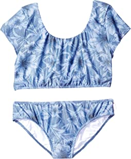 Tropical Vacation Tie Back Tankini Top (Little Kids/Big Kids)
