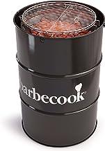 Barbecook Holzkohlegrill Fass-Form Tonne Verchromter Grill-Rost verstellbar Durchmesser 47.5 Garten Höhe 89-cm, schwarz
