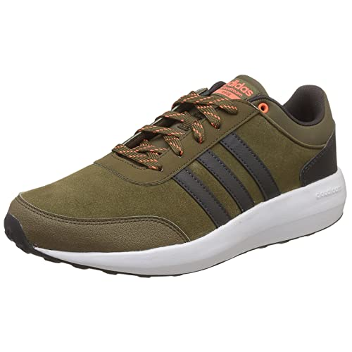 low priced 96b5f f6ea6 Adidas Mens Cf Race Leather Sneakers