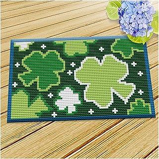 Lanrui Kits de Crochet pour débutants avec Motif de Fleur imprimé Toile d'angoisse d'aiguilles pour Enfants Adultes Verts ...