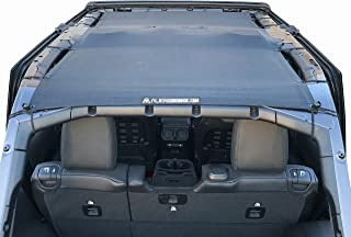 ALIEN SUNSHADE Jeep Wrangler JLU (2018-Current) Full Length Sun Shade Mesh Top Cover (Black) – 10 Year Warranty - Blocks UV, Wind, Noise