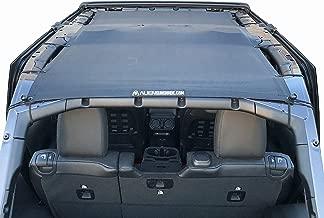 ALIEN SUNSHADE Jeep Wrangler 2018+ JLU Full Length Sun Shade Mesh top for 4-Door Unlimited Blocks Harmful UV Rays