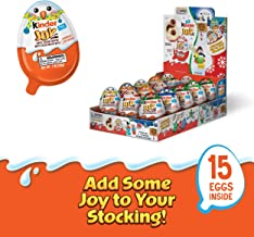 Kinder Joy Eggs, Holiday Edition, 15 Count Individually Wrapped Stocking Stuffers, 21 oz