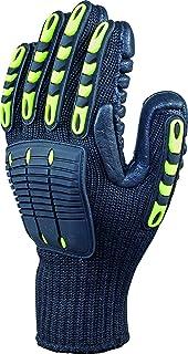 デルタプラス(DELTAPLUS) NYSOS VV904 耐振動手袋 中手骨プロテクト 強化ラバーパッド+TRPコート グリップ性+振動軽減 XLサイズ