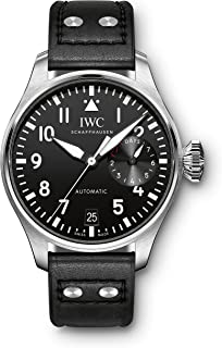 IWC - Reloj suizo automático para hombre con correa de acero inoxidable, color negro (modelo: IW500912)