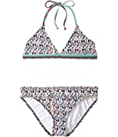 Ella Moss Girl - Printed Trianlge Bra Set (Big Kids)