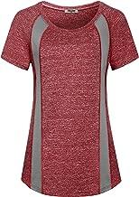 Hibelle Women's Short Sleeve Yoga Running Workout Gym T-Shirt Tops