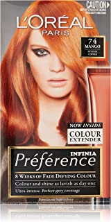 L'Oréal Paris Préférence Permanent Hair Colour - P74 Mango (Intense, Fade-Defying Colour)