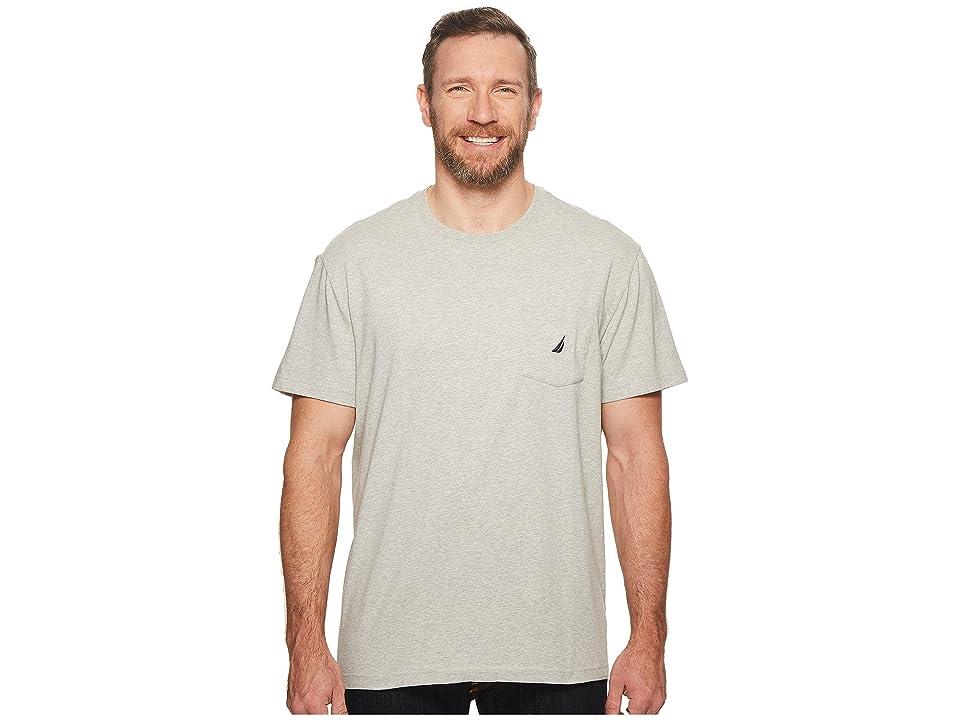 Nautica Big & Tall Big Tall Short Sleeve Anchor Pocket Tee (Grey Heather) Men