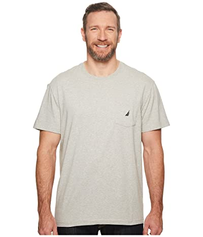 Nautica Big & Tall Big Tall Short Sleeve Anchor Pocket Tee (Grey Heather) Men